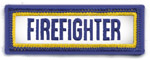 1 X 3 FIREFIGHTER TAB PATCH