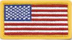 1.75 X 3.25 AMRICAN FLAG EMBLEM