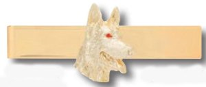 Premier Emblem K-9 dog head tie bar
