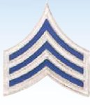 1 1/4 POLICE CHEVRONS WITH BLUE ENAMEL