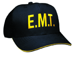 E.M.T. Direct Embroidered 6 Panel Cotton Twill Summer (Reflective Trim) Cap