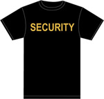 SECURITY 100% COTTON T-SHIRT